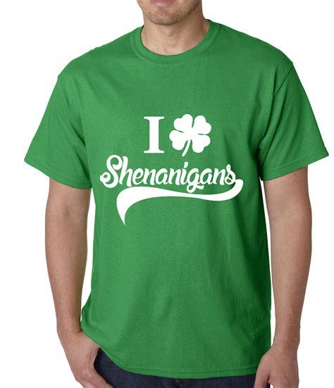 Shirts For S Day I Clover Shenanigans St Patricks Day Mens T Shirt