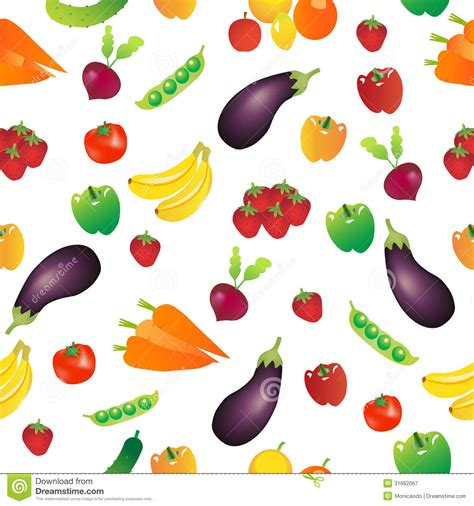 vegetables pattern wallpaper seamless repeating vegetables background stock vector