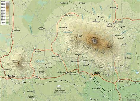 africa map kilimanjaro tanzania s mount kilimanjaro maps routes facts and photos