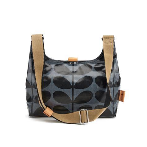 Ck Padlock Sling Mini orla kiely s linear stem print laminated mini sling bag midnight
