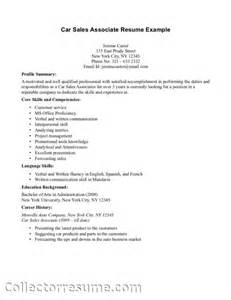 Sle Skills Section Of Resume by Resume Skills List Sales Associate