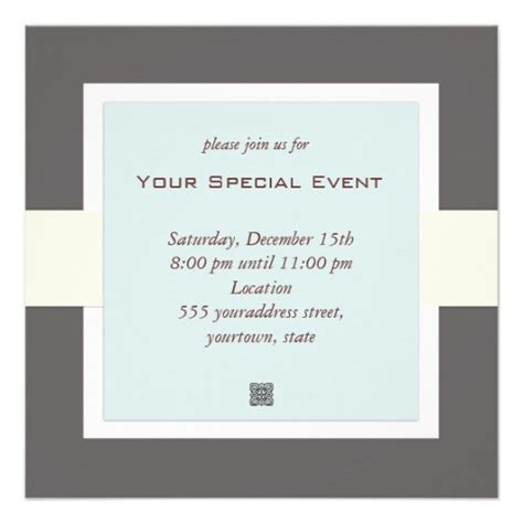 corporate invitations templates clean and simple business event invitation 5 25 quot square