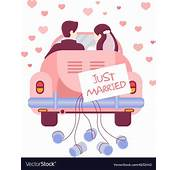Just Married On Car Royalty Free Vector Image  VectorStock