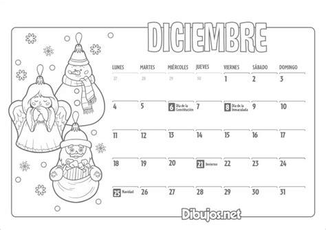 Calendario Noviembre Y Diciembre 2017 Calendario Infantil 2017 Para Imprimir Y Colorear
