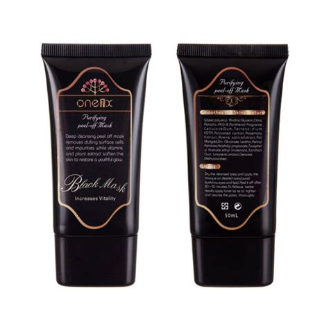 One1x Purifying Peel Mask Black Mask 1 one1x color black 50ml purifying whitehead remover peel