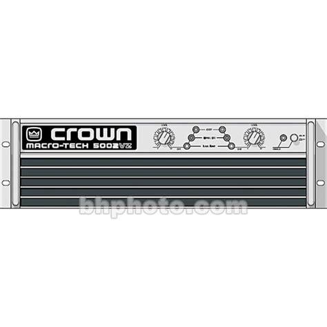Power Crown Macro Tech 5002 Vz crown audio ma 5002vz macro tech lifier ma5002vz b h photo