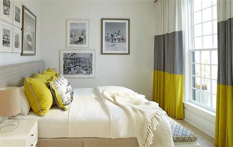 grey bedroom curtains cheerful sophistication 25 elegant gray and yellow bedrooms