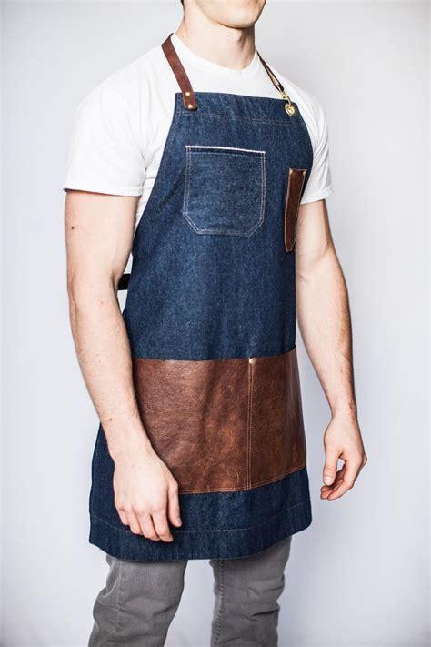 denim apron leather pockets google search aprons