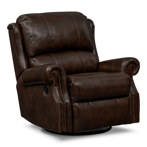 Rocking Leather Recliner by Value City Furniture