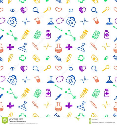 free medical background pattern seamless vector pattern medical tools and pills white