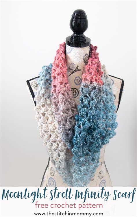 crochet pattern instructions questions moonlight stroll infinity scarf free crochet pattern