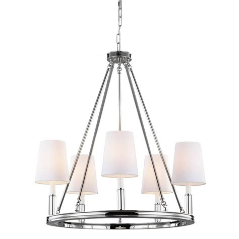 Polished Nickel Chandeliers Feiss Lismore 5 Light Polished Nickel Chandelier F2922 5pn The Home Depot