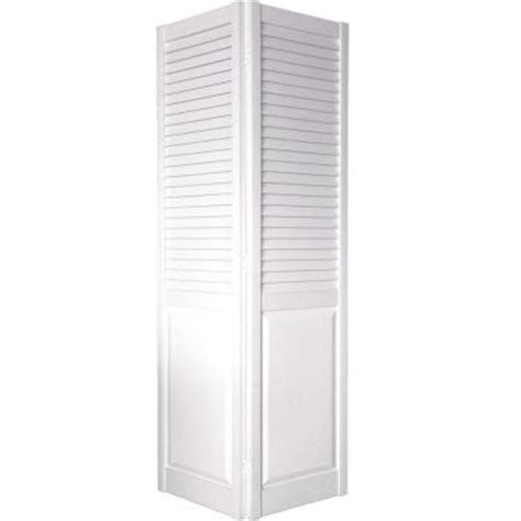 White Louvered Closet Doors by Home Fashion Technologies 30 In X 80 In 2 In Louver