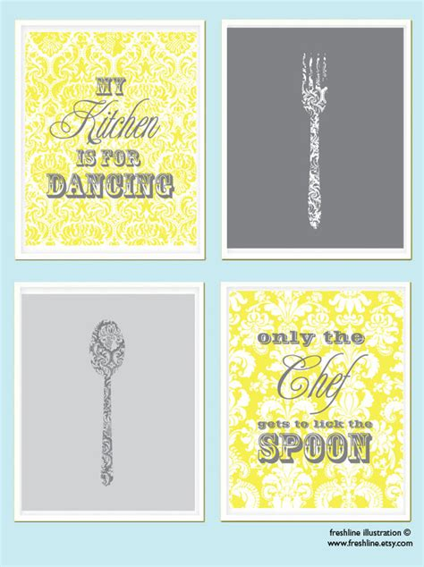 printable kitchen quotes kitchen print set kitchen wall art kitchen quote