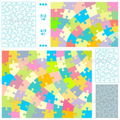 puzzle pattern illustrator jigsaw puzzles with hand cut style guidelines graphicriver