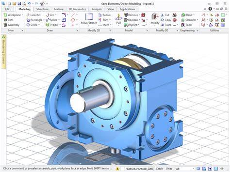 easy 3d cad software creo elements direct modeling express 3d cad drawing tool ptc