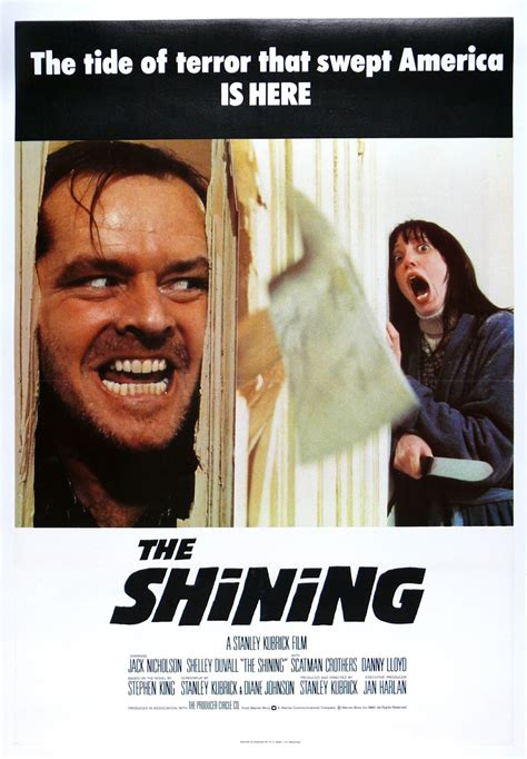 The Shining the geeky nerfherder poster the shining 1980