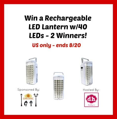 Sonic Giveaway - rechargeable lantern giveaway a sweet potato pie