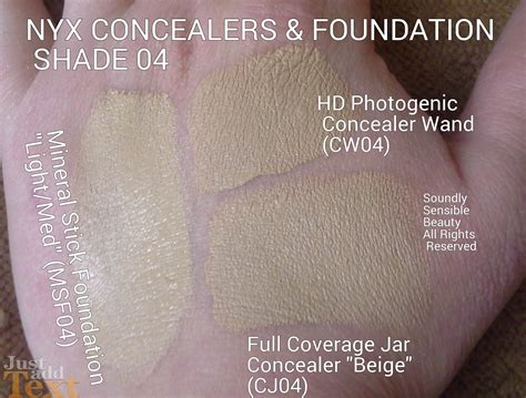 Nyx Foundation Stick nyx mineral foundation stick review swatches of shades