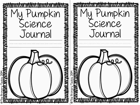 printable science journal cover the primary techie the life cycle of a pumpkin with free