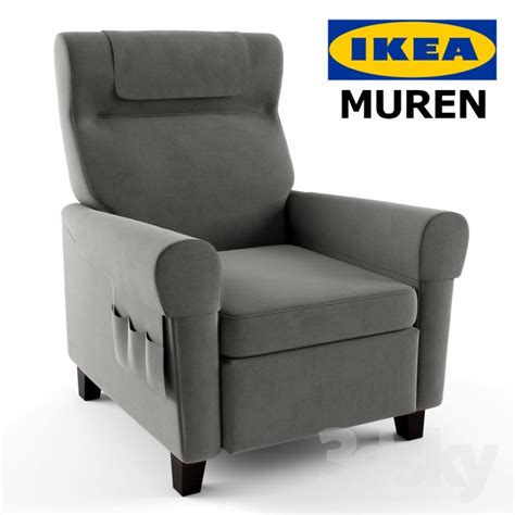 reclining chairs ikea 3d models arm chair muren recliner by ikea
