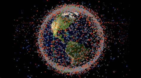space junk map real time map of every object in earth s orbit shows