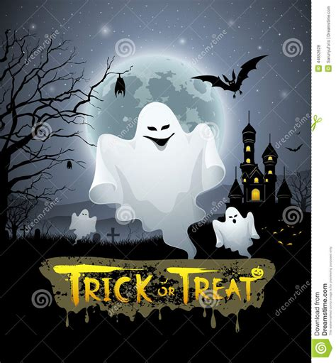 Trick Or Treat Graphic 8 happy ghost and message trick or treat design