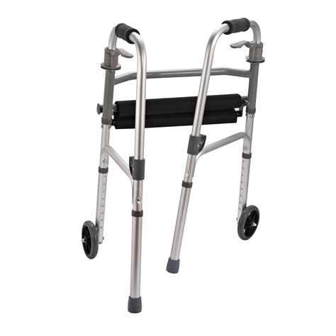 Handicap Stools With Wheels by Homcom Folding Mobility Rollator Disabled Aid Walker W 2