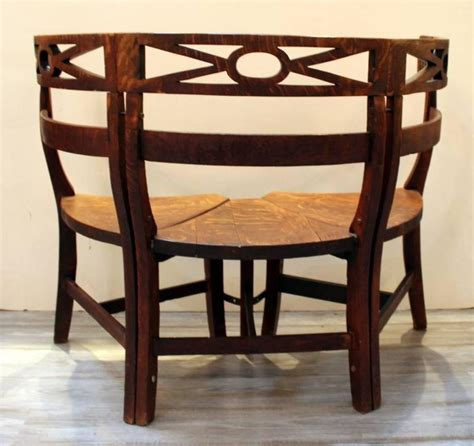 demilune bench late 19th century oak demilune bench for sale at 1stdibs