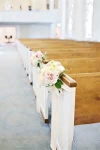 Simple Wedding Decorations 11 Blush Peach Amp Ivory Pew Flowers Royal Lane Baptist