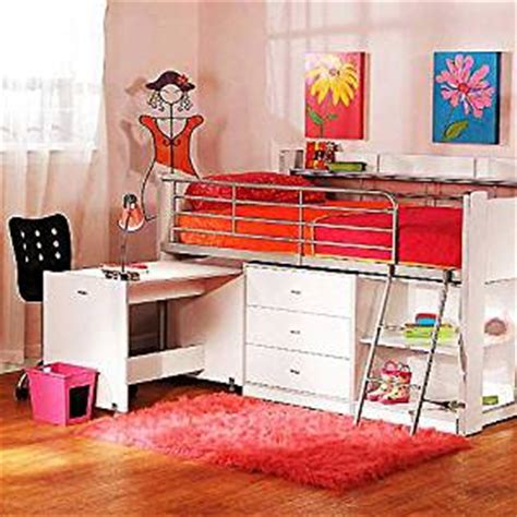 amazon loft bed with desk amazon com charleston storage loft bed with desk white