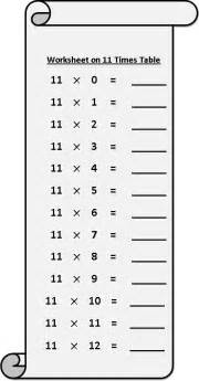 worksheet on 11 times table printable multiplication