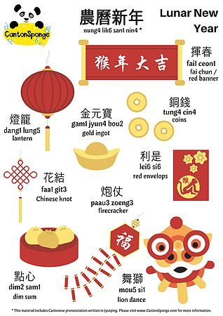 words associated with new year 107 best cantonese language activities images on
