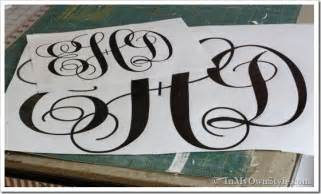 create monogram initials a dash of lora diy how to make a cut out monogram courtesy of in my own style