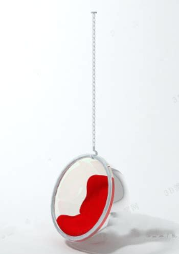 luxury red hanging chair 3d model 3d model download free