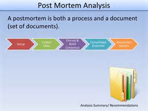 Project Post Mortem Template by Post Mortem Analysis