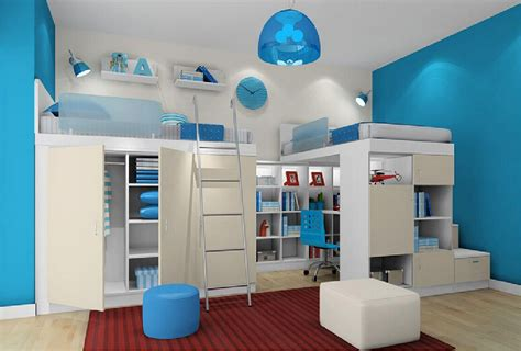 interior design styles of children bedroom blue 3d house