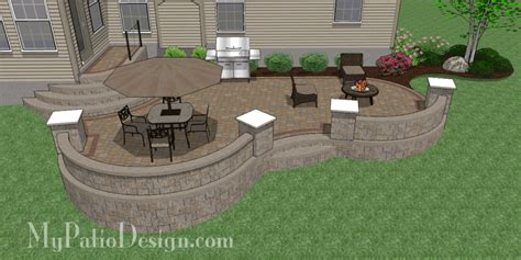 Design My Patio How To Install Larger Paver Patio Smaller Existing Concrete Patio Mypatiodesign