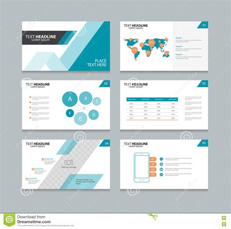 layout design of ppt page layout design template for presentation stock vector