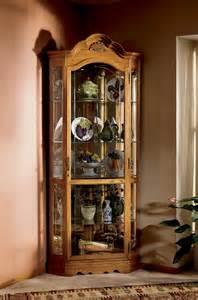 Curio Cabinet Corner Oak Howard Miller Wilshire Golden Oak Corner Curio Cabinet 680 207