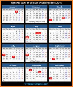 Belgium Kalender 2018 National Bank Of Belgium Holidays 2016 Holidays Tracker