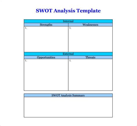 swot template word swot analysis template 51 free word excel pdf free