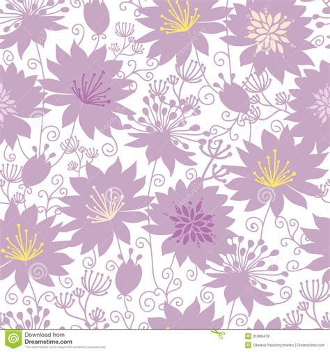 flower pattern line vector purple shadow florals seamless pattern background stock