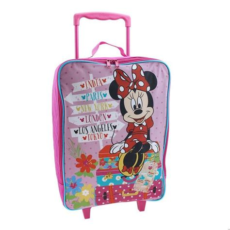 Bag Import Ready White G12 minnie mouse luggage for mc luggage