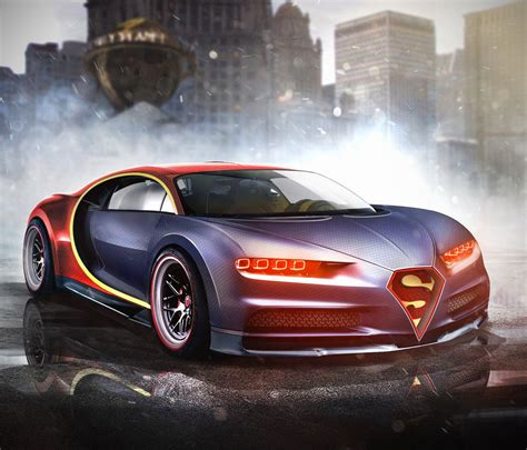 bugatti chiron gold superman s bugatti chiron and 8 more marvel dc superhero