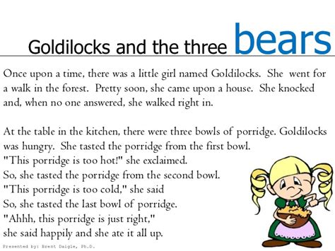 Kitchen Message Board Ideas by Goldilocks And The Three Bears In English And French