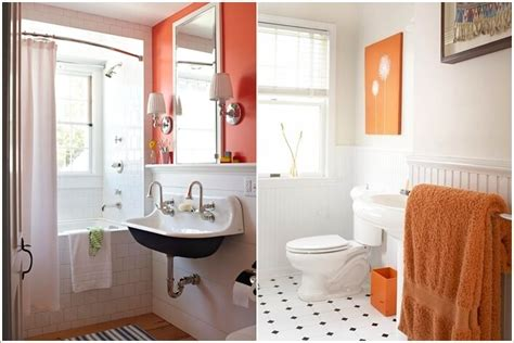 orange and black bathroom 15 color schemes that work well in a small bathroom