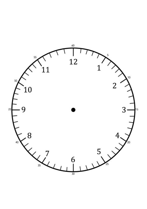clock faces for use in learning to tell the time craft