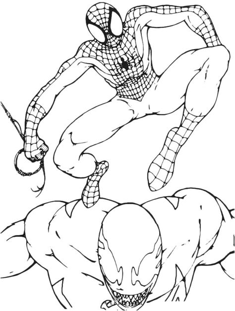 venom coloring pages printable venom vs spiderman coloring pages coloring home