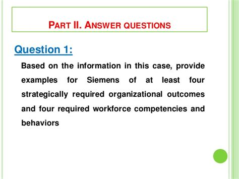 section 4 1 the role of climate answers siemens builds a strategy oriented hr system
